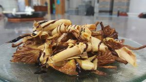 Alcachofas con foie y aceite de Módena