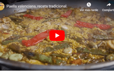 Paella valenciana, receta tradicional.