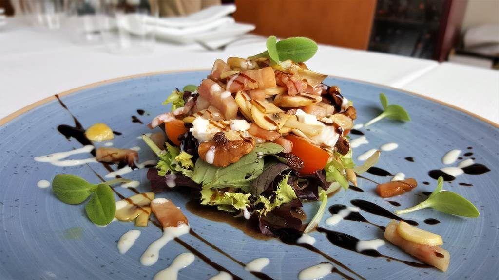 Ensalada templada restaurant Oliver  Miramar