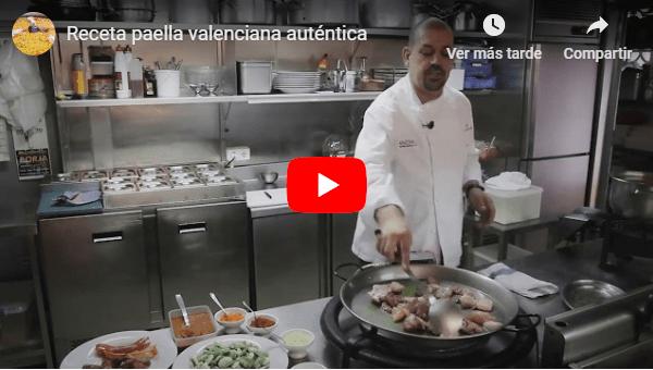 Receta paella valenciana auténtica.