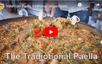 Valencian Paella, traditional recipe Spanish paella.