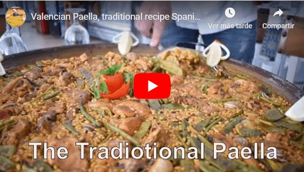 Valencian Paella, traditional recipe Spanish paella.