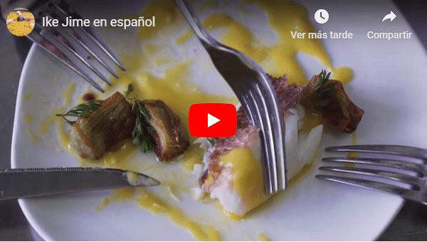 Ike Jime, pescado fresco durante 30 días. Vídeo en español.