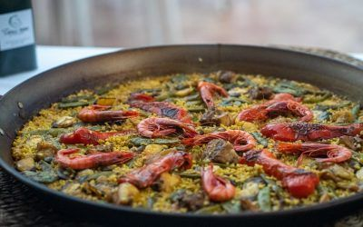 La Paella de fiesta es una paella mixta y es posiblemente la mejor paella valenciana